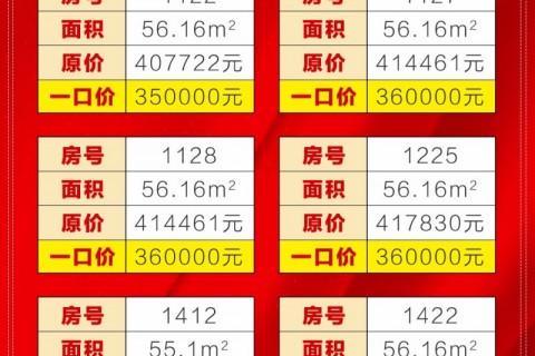 【和悦时代广场】超低一口价,清盘让利!