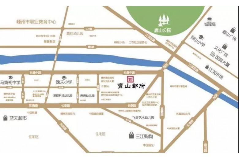 宝山郡府交通图