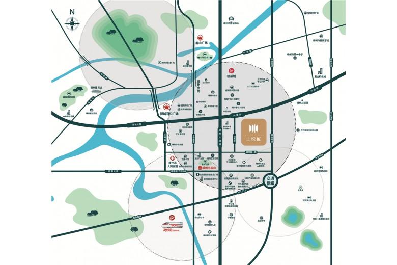 中南·上悦城交通图